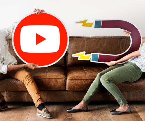 Imán atrae el logo de YouTube para poder crecer en YouTube