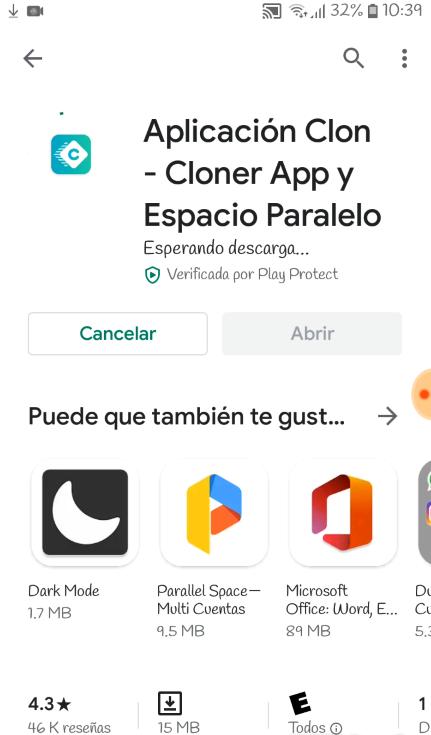 Logo verde de clone app en la app store de google para aprender a como duplicar aplicaciones