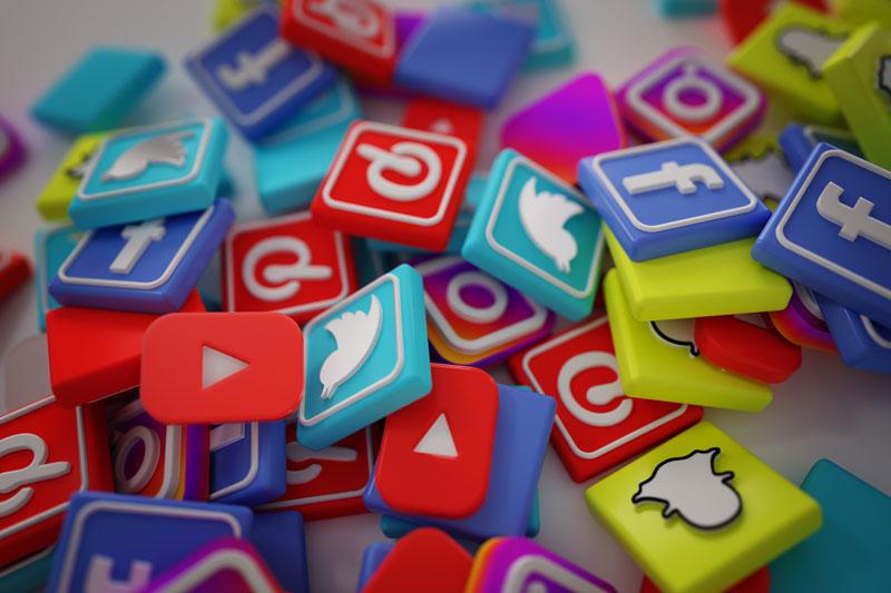 """Iconos que representan las distintas redes sociales que recibieron el """"boicot a redes sociales"""""""
