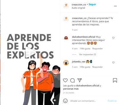 Instagram reels ejemplo de tips