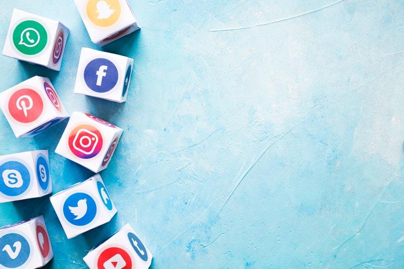 Iconos de redes sociales para tendencias en redes sociales 2020